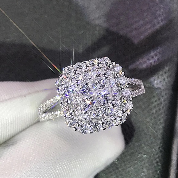 SOLD OUT 925 Silver Cubic Zirconia Engagement Ring
